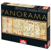 Educa 16355 - Puzzle 3000 Weltkarte Von 1375 Panorama