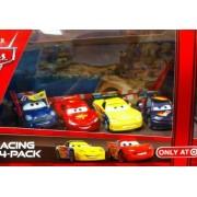 Disney / Pixar CARS 2 Movie Exclusive Die Cast Car Racing 4Pack Lightning McQueen, Ronnie Del Cooper, Max Schnell Jeff Gorvette by Unknown