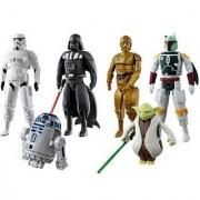Egg Force Star Wars Super Hero Action Figure Set (Darth Vader Storm Trooper R2-D2 Boba Fett Yoda C-3PO)