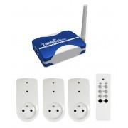 Kit de démarrage MEDIUM TellStick, 3 prises, 1 télécommande - Proove