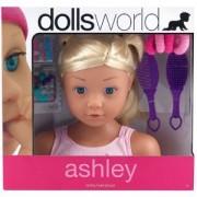Dolls World Styling Head Playset Ashley Blonde Hair by Dolls World