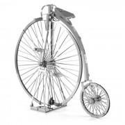 DIY 3D puzzle montado modelo de juguete de la bici de la vendimia - plata