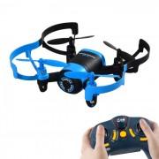 JXD 512 de 4 canales 6-Axis Mini RC Quadcopter w / camara de 0?3 MP - Negro + Azul