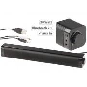 PC-Stereo-Soundbar mit Bluetooth und AUX, USB-Stromversorgung, 20 Watt