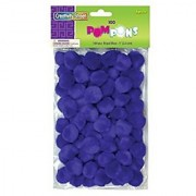 Creativity Street Pom Pons 100-Piece x 1 Inch Royal Blue
