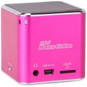 Jaytech Jay-Tech Speaker & MP3 Player Mini Bass Cube SA 101 (pink)