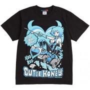 Earth Defense Force x K2-STUDIO Cutie Honey T-shirt C (negro) Tama?o: S (jap?n importaci?n)