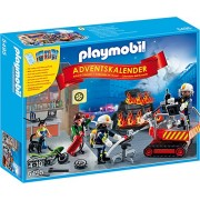 "Playmobil 5495 - Calendario Dell'Avvento ""Pompieri in Azione"" con Card Game"