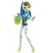 Monster High Frankie Stein Fashion Doll Swimsuit Leopard Print