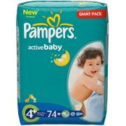 Pampers bebelusi Active Baby nr 4+ 74 buc