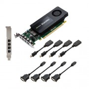 PNY VCQK1200DVI-PB Nvidia Quadro K1200 Scheda Grafica Professionale, 4 GB, GDDR5, PCI-Express Low Profile 4K 4 x DP/DVI