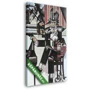 Juan Gris: Férfi egy kávézóban (20x30 cm, Vászonkép )