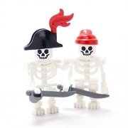LEGO Collectible Minifigures 2011 Series PIRATE SKELETONS (Set of 2 - Loose)