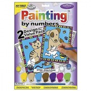 Royal Brush My First Paint by Number Kit 8.75 by 11.375-Inch 2-Pack
