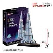 CubicFun LED 3D Puzzle 136 Pieces: Burj Khalifa