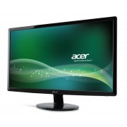 Monitor Acer S240HLbid, TN+Film, 24 (61 cm), Format: 16:9, Resolution: Full HD (1920x1080@60Hz), Response time: 5 ms, Contrast: 100M:1, Brightness: 250 cd/m2, Viewing Angle:170°/160°; 1xVGA + 1xDVI (w/HDCP) +1xHDMI; Star 6.0, Acer EcoDisplay, Black,