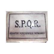 Magnete da frigo S.P.Q.R. - Senatus Popolusque Romanus in ceramica