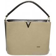 Béžovo-hnědá elegantní kabelka S623 GROSSO
