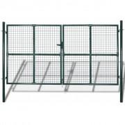 vidaXL Záhradná bránka do plotu s mrežou 289 x 200 cm / 306 250