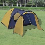 vidaXL Четириместна палатка, жълта