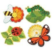 Petit Collage Beginner Jigsaw Floor Puzzle Garden Bugs
