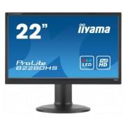 iiyama ProLite B2280HS-B1DP 21,5' LED LCD 1920x1080 13cm Height adj 250cd/m² 12M:1 ACR speakers DisplayPort DVI VGA 5ms TCO6