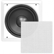 Pyle PDIWS10 In-Wall / In-Ceiling 10 High Power Subwoofer System DVC Flush Mount White Single Speaker