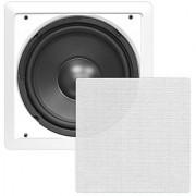 Pyle PDIWS10 In-Wall / In-Ceiling 10 High Power Subwoofer System DVC Flush Mount White Single Speaker