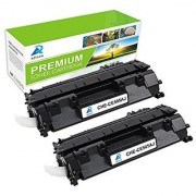 Aztech 2 Pack Jumbo Replacement for HP 05A CE505A Black Toner Cartridge 3 500 Yield for HP LaserJet P2030 P2035 P2035N P