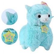 KSB 7.3 Blue Good Night Plush Alpaca 100% Plush Stuffed Animals Doll Toys Best Birthday Gifts For The Children Kids(Nigh