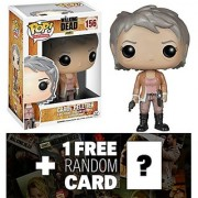 Carol Peletier: Funko POP! x Walking Dead Vinyl Figure + 1 FREE Official Walking Dead Trading Card Bundle [46798]