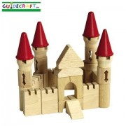 Game / Play Guidecraft Castle Block Set. Rubberwood, Blocks, Colorful, Stackable, Puzzle, Playing, B