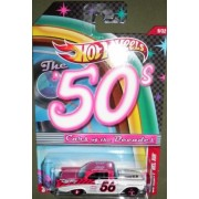 HOT WHEELS THE 50S CARS OF THE DECADES 9/32 RED / WHITE 56 CHEVY BEL AIR