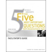 Peter Drucker's the Five Most Important Questions Self Assessment Tool by Frances Hesselbein Leadership Institute