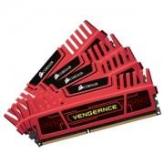 Memorie Corsair 32GB (4x8GB) DDR3, 1866MHz, CL10, Red Vengeance, Quad Channel Kit, CMZ32GX3M4X1866C10R