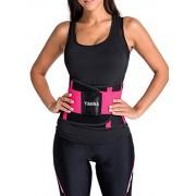 YIANNA Women's Waist Trainer Tummy Belt-Body Shaper Belt for Hourglass Shaper Weight Loss, YA8002-Rose-S