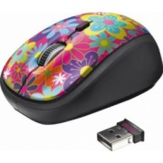 Mouse Wireless Trust Yvi Flower Power