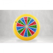 Spin-Fit Sports Disc with Exercises. Plastic flying disc (80g - 9 inch diameter) with instructions. Made in USA.