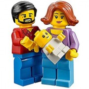 LEGO Town City Fun in the Park Family of Minifigures - Mom Female Dad Male and Baby (60134)