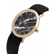 Analog Watch Classic Black Marble Dial & Black Strap Watch GB-CB