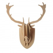 Wooden Deer Head (Plywood) - Small
