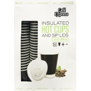 Strong 150 Double Insulated 354Ml Disposable Takeaway Hot Drinks Cups