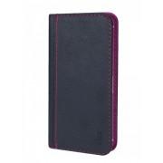 Калъф тефтер от естествена кожа BOOKLET за Samsung Advance size L сив