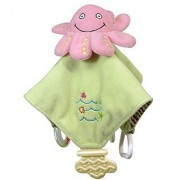 Stephan Baby Go Fish Plush Chewbie Activity Toy and Teething Blankie Pink Octopus