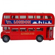 London Double Decker Bus Hard Top (4.75 Diecast Model Car Red)