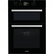 Indesit IDD6340BL Double Built In Electric Oven - Black