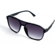 Mickle Aviator, Clubmaster, Oval, Over-sized, Round, Shield, Spectacle , Wayfarer Sunglasses(Violet, Clear)