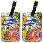 Caroline's Treasures 6057BT Harbour Luggage Tag(Multicolor)