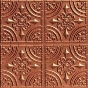 Decoraids Hierro forjado-sintética lata azulejo del techo cobre Pack de 25