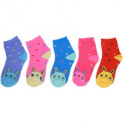 Baby Cotton Cartoon Face Socks 1-13 years (Multicolour) - Set of 5 Pair baby boys/girls